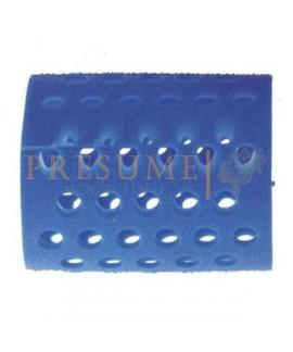 Bolsa 12 Rulos Plástico Azul Nº 7 (Ø 48 Mm)