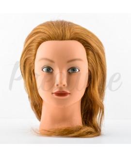 Cabeza de Maniquí 100% Humano 18'' Rubio 45 cm