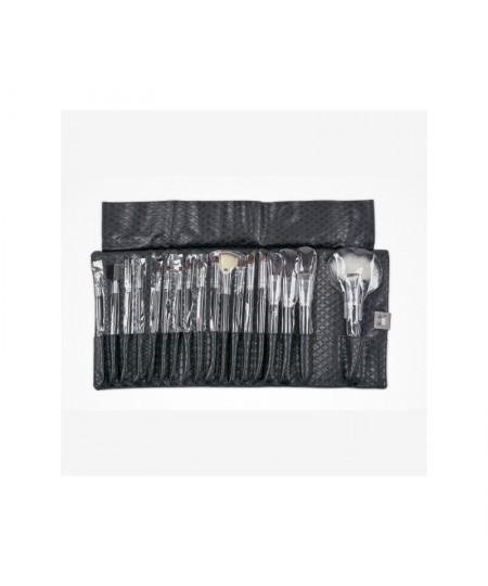 SET 18 PINCELES DE PIEL CLEISSY BLACK