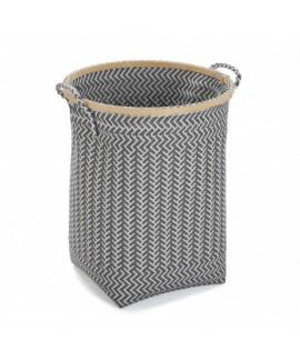 cesto ropa porta toallas gris